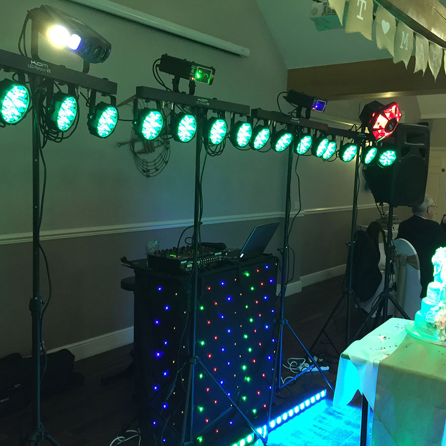 Lights and speakers